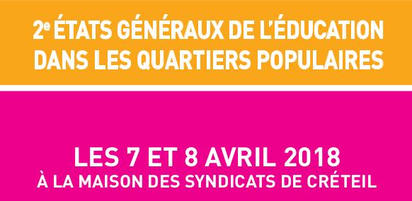 Le CAE aux États-Généraux de l'éducation dans les quartiers populaires les 7 et 8 avril