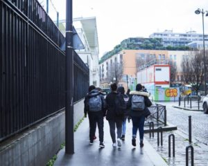 Dans le XVIIIe arrondissement de Paris, en décembre 2016