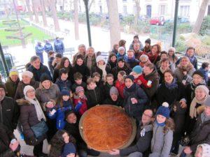 La galette géante dévorée au square en janvier 2017 !